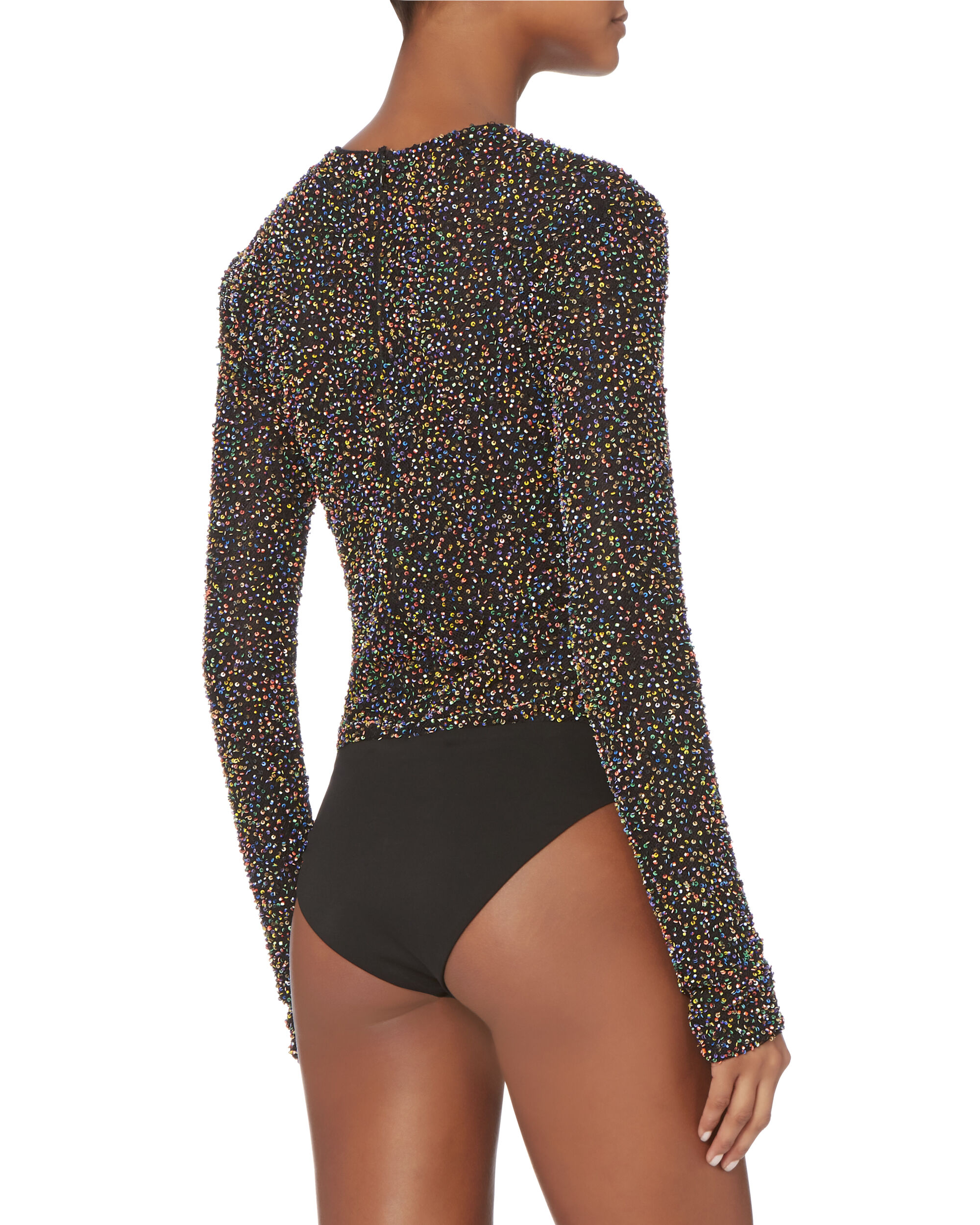 Confetti Beaded Mesh Bodysuit, MULTI, hi-res