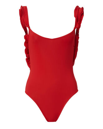 Jebel One Piece Swimsuit, RED, hi-res