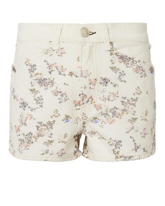 Ellie Floral Cutoff Shorts, MULTI, hi-res