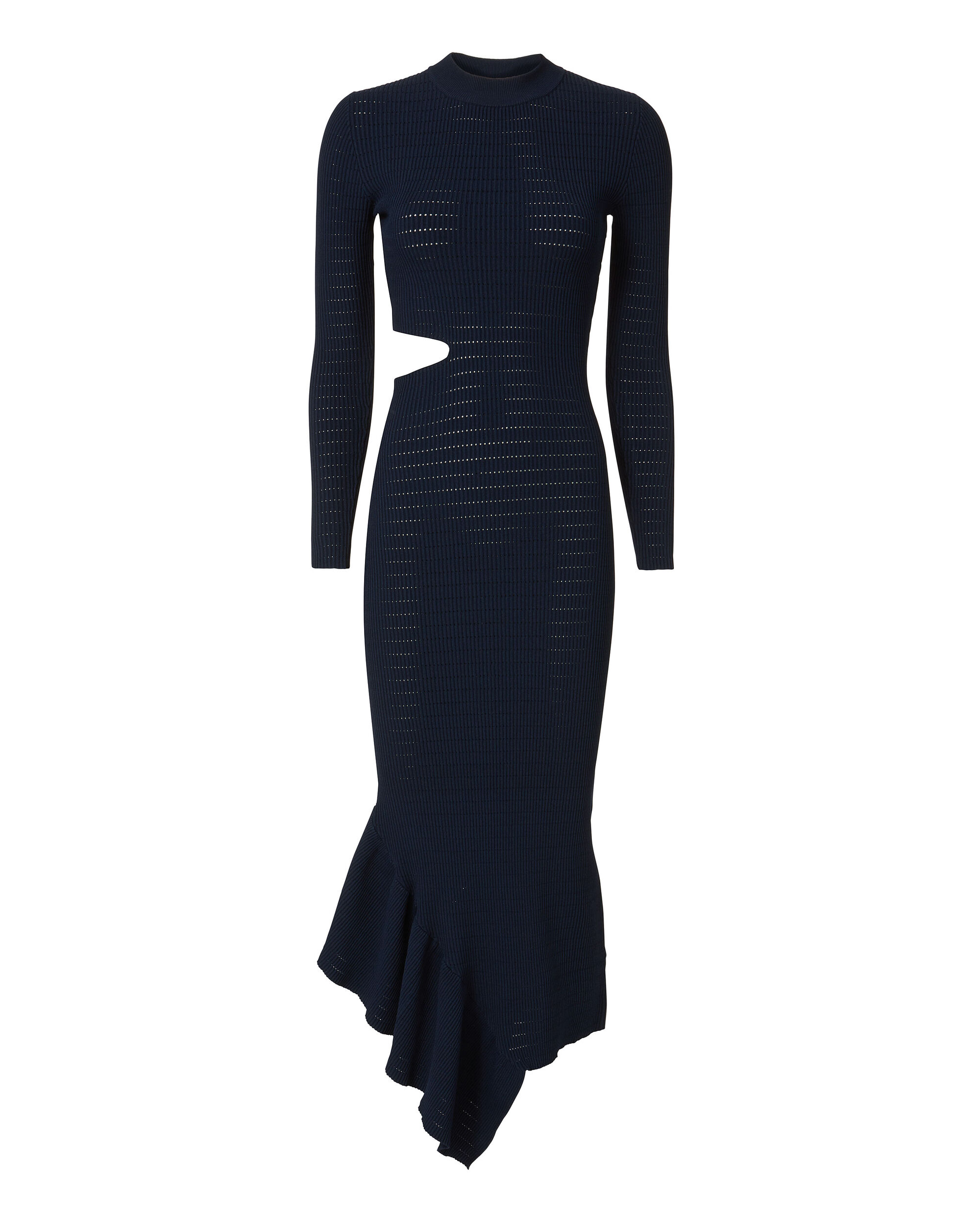 Charlize Pointelle Dress, NAVY, hi-res