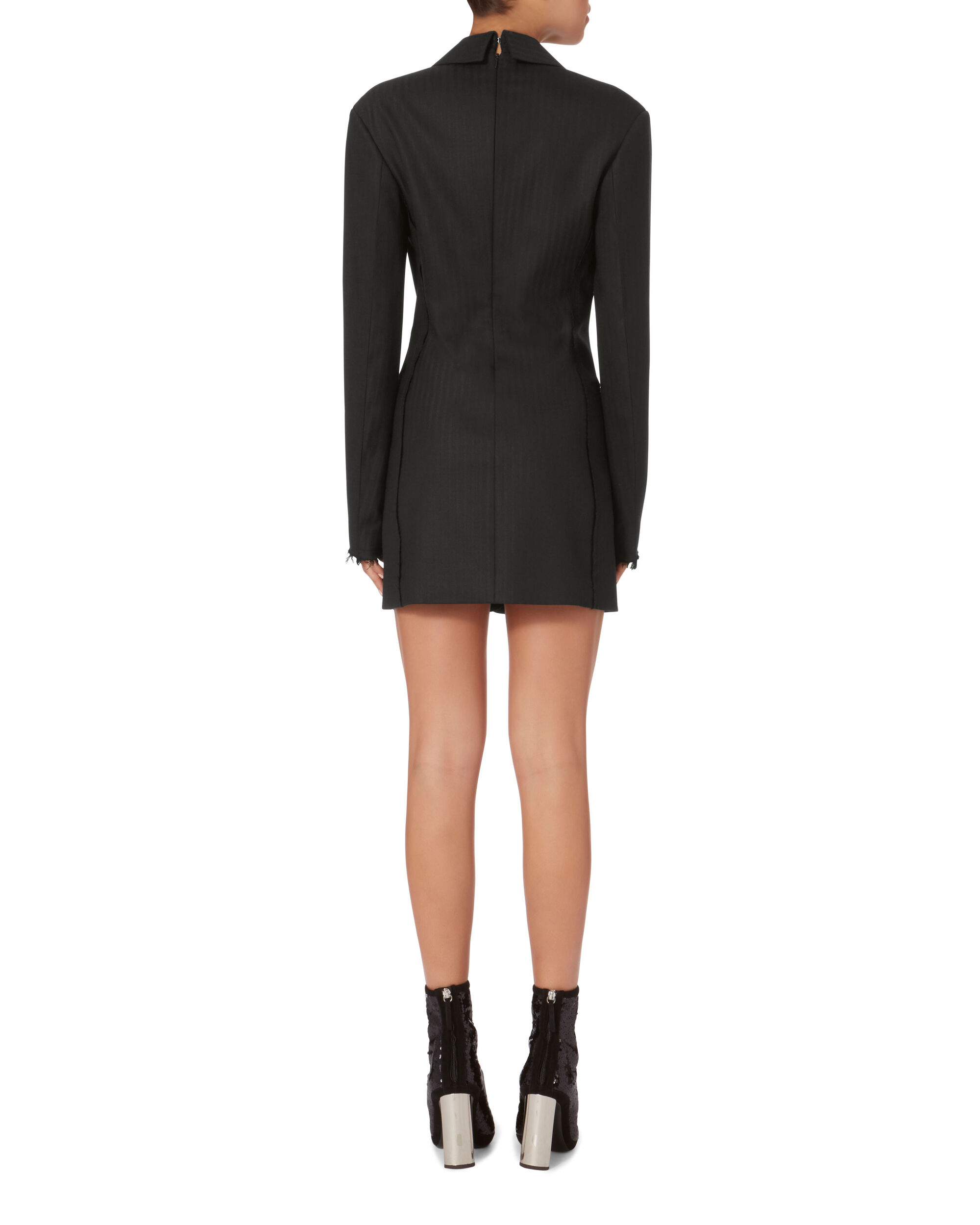 Herringbone Blazer Dress, , hi-res