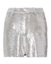 Silver Sequin Skirt, METALLIC, hi-res