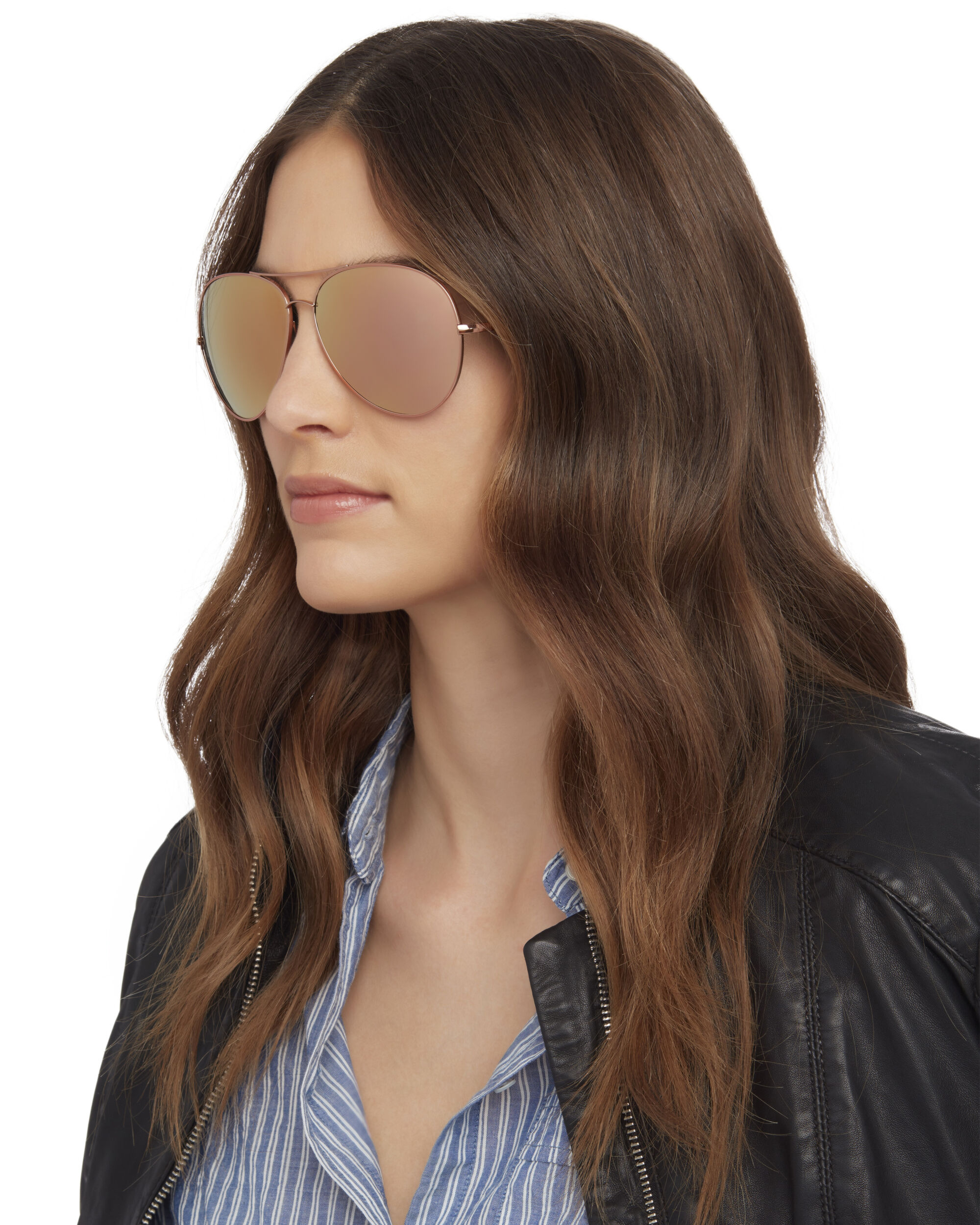 Sayer Mirrored Aviator Sunglasses, METALLIC, hi-res