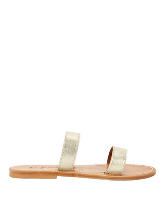 Bagatel Two-Strap Flat Sandals, METALLIC, hi-res