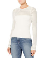 Katharleen Bell Sleeve Knit Top, WHITE, hi-res