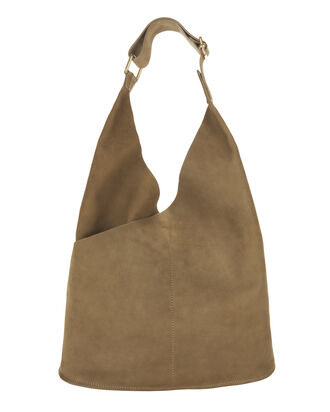Sadie Brown Leather Hobo Bag, BROWN, hi-res