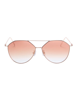 Pink Angular Aviator Sunglasses, PINK, hi-res