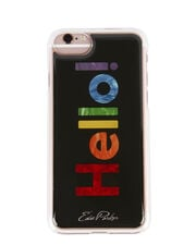 Rainbow Hello! iPhone 6 or 7 Case, BLACK, hi-res