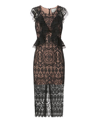 Narasse Lace Midi Dress, BLACK, hi-res