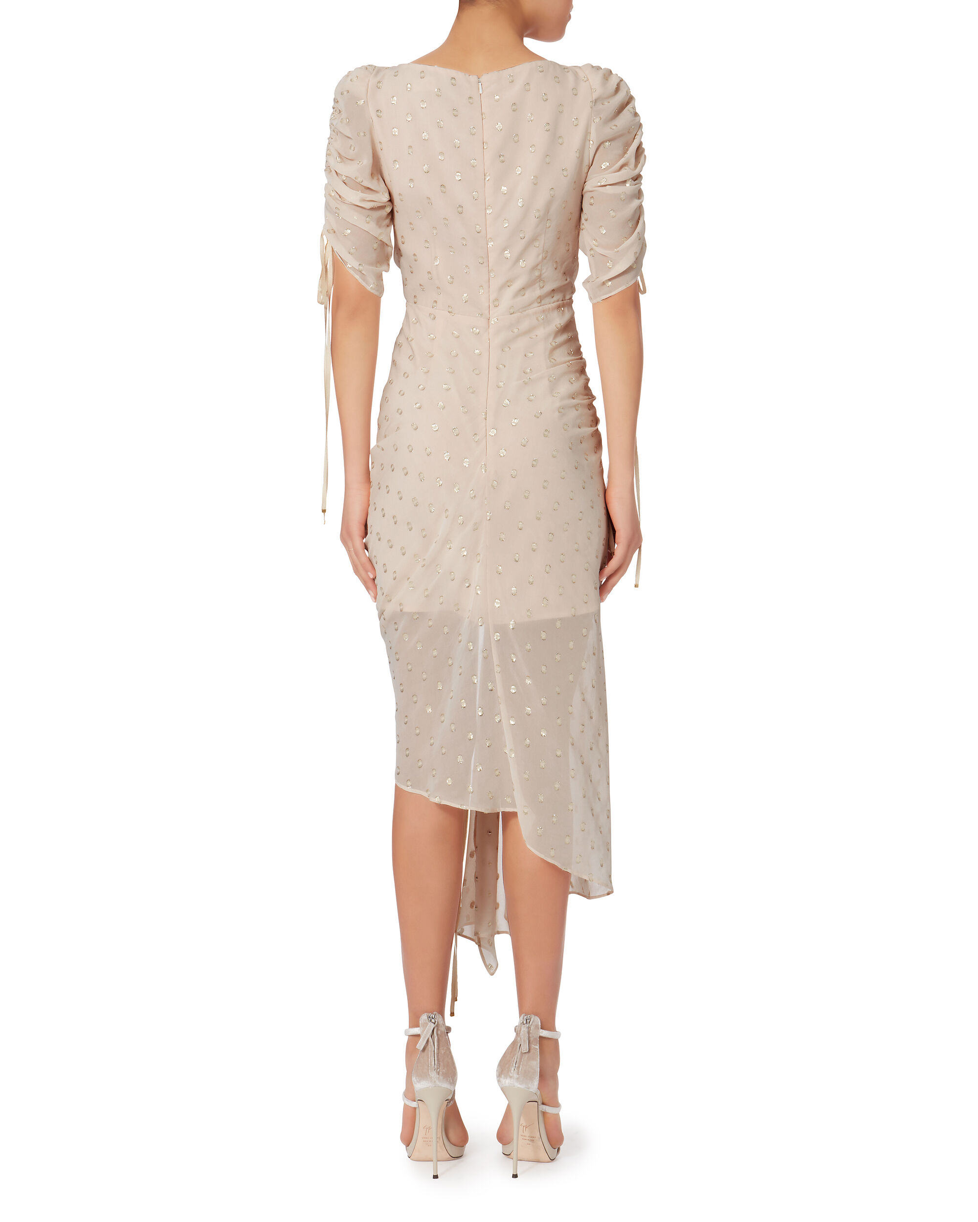 I Feel It Coming Ruched Dress, WHITE, hi-res
