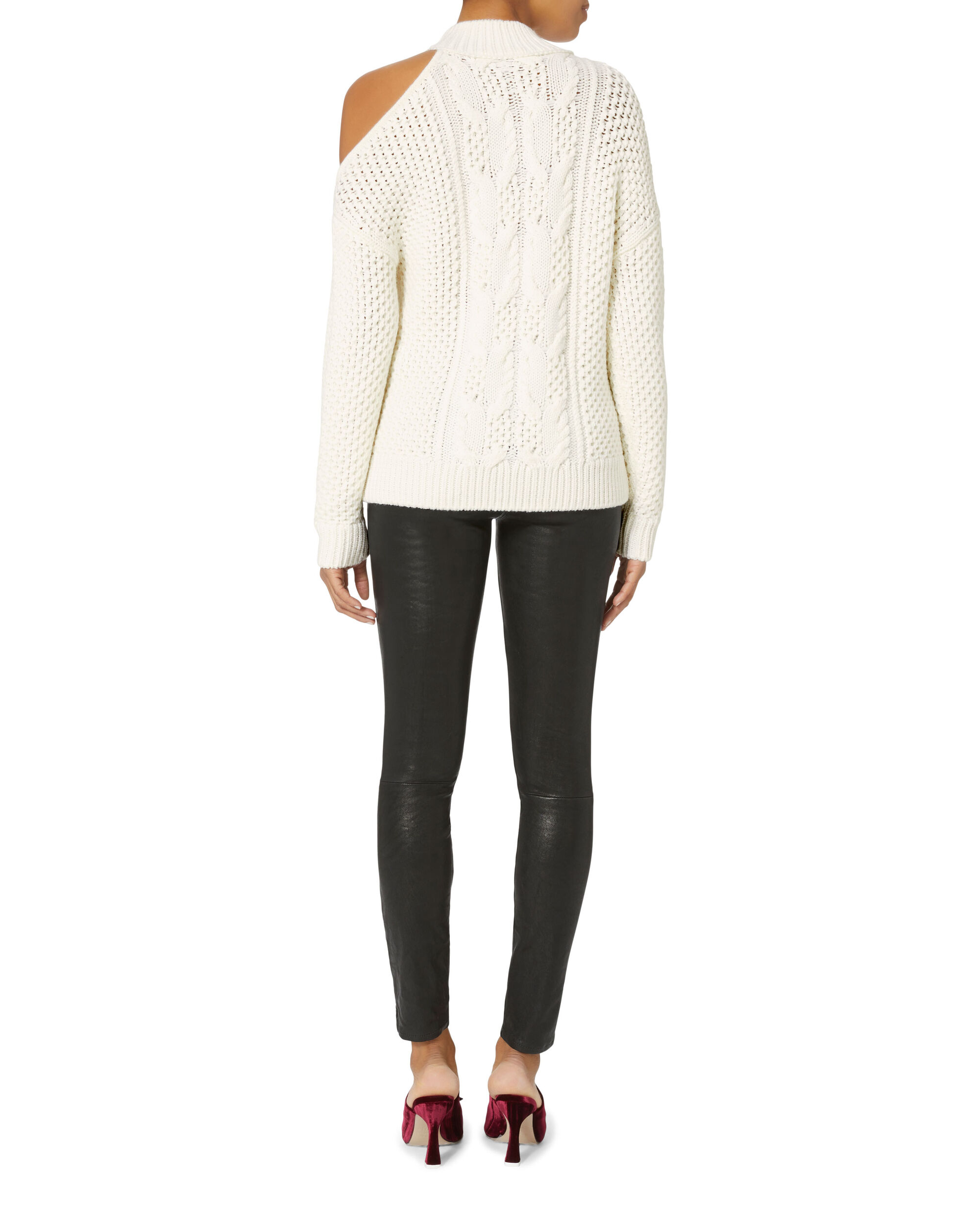 Britta Cold Shoulder Sweater, IVORY, hi-res