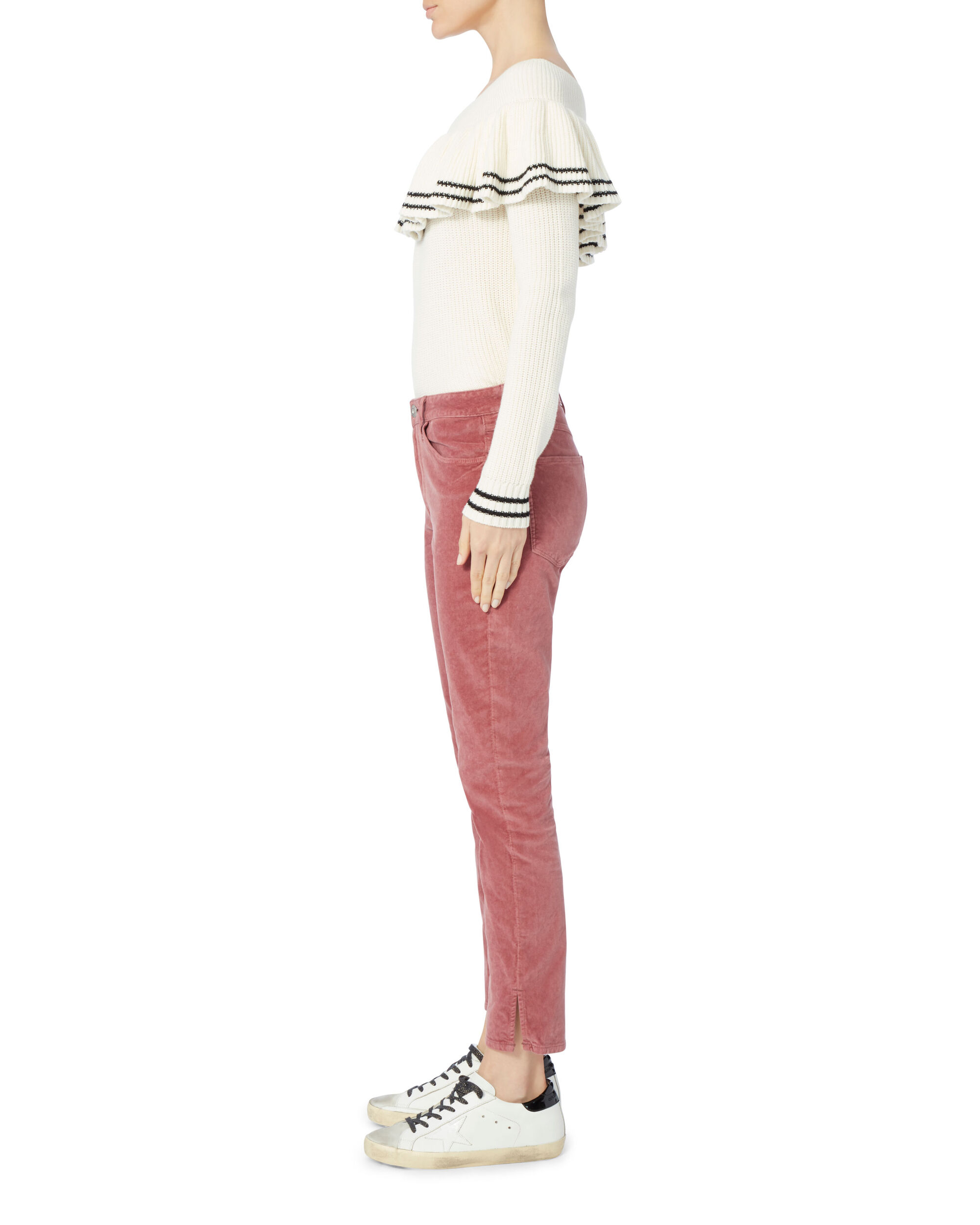 Rosette Velvet Higher Ground Jeans, PINK, hi-res