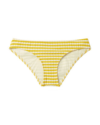 Elle Yellow-Striped Bikini Bottom, PATTERN, hi-res