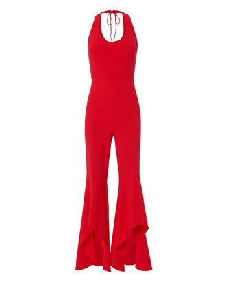 Gabrielle Ruffle Pant Jumpsuit, RED, hi-res