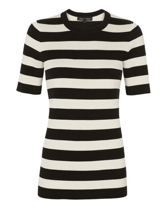 Striped Pullover Top, BLACK/WHITE, hi-res