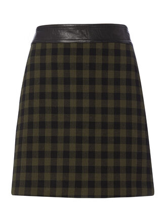 Krisa Plaid Mini Skirt, PATTERN, hi-res