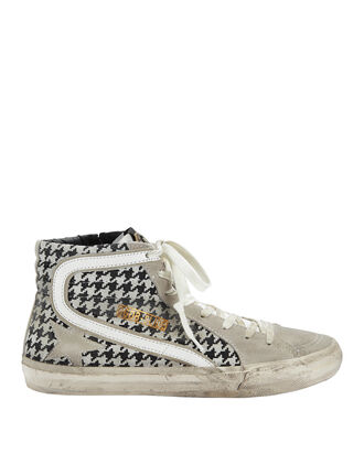 Francy Argyle Print High-Top Sneakers, GREY, hi-res