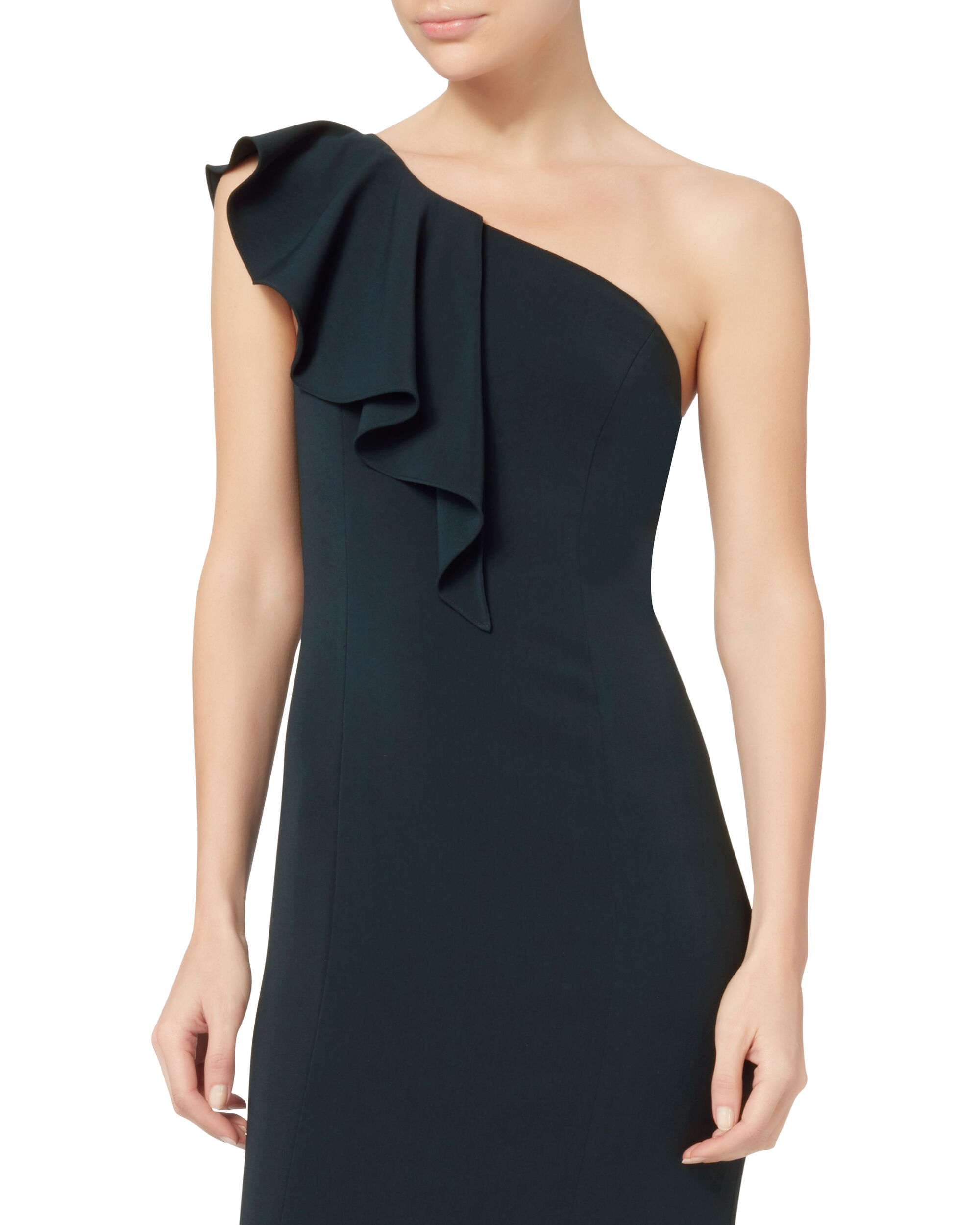 Osgood One Shoulder Navy Gown, NAVY, hi-res