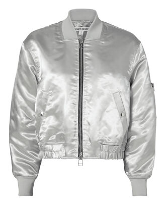 Royan Oversized Bomber Jacket, METALLIC, hi-res