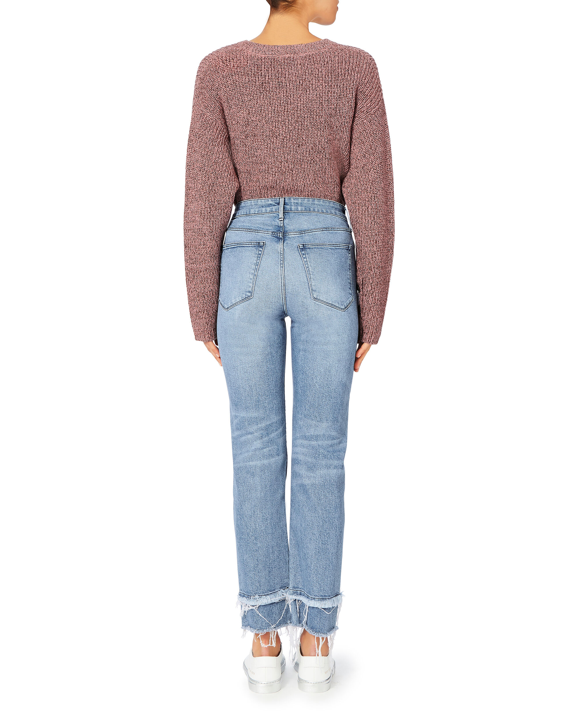 Petal Higher Ground Slim Cropped Jeans, DENIM, hi-res