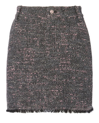 Tweed Mini Skirt, MULTI-DRK, hi-res