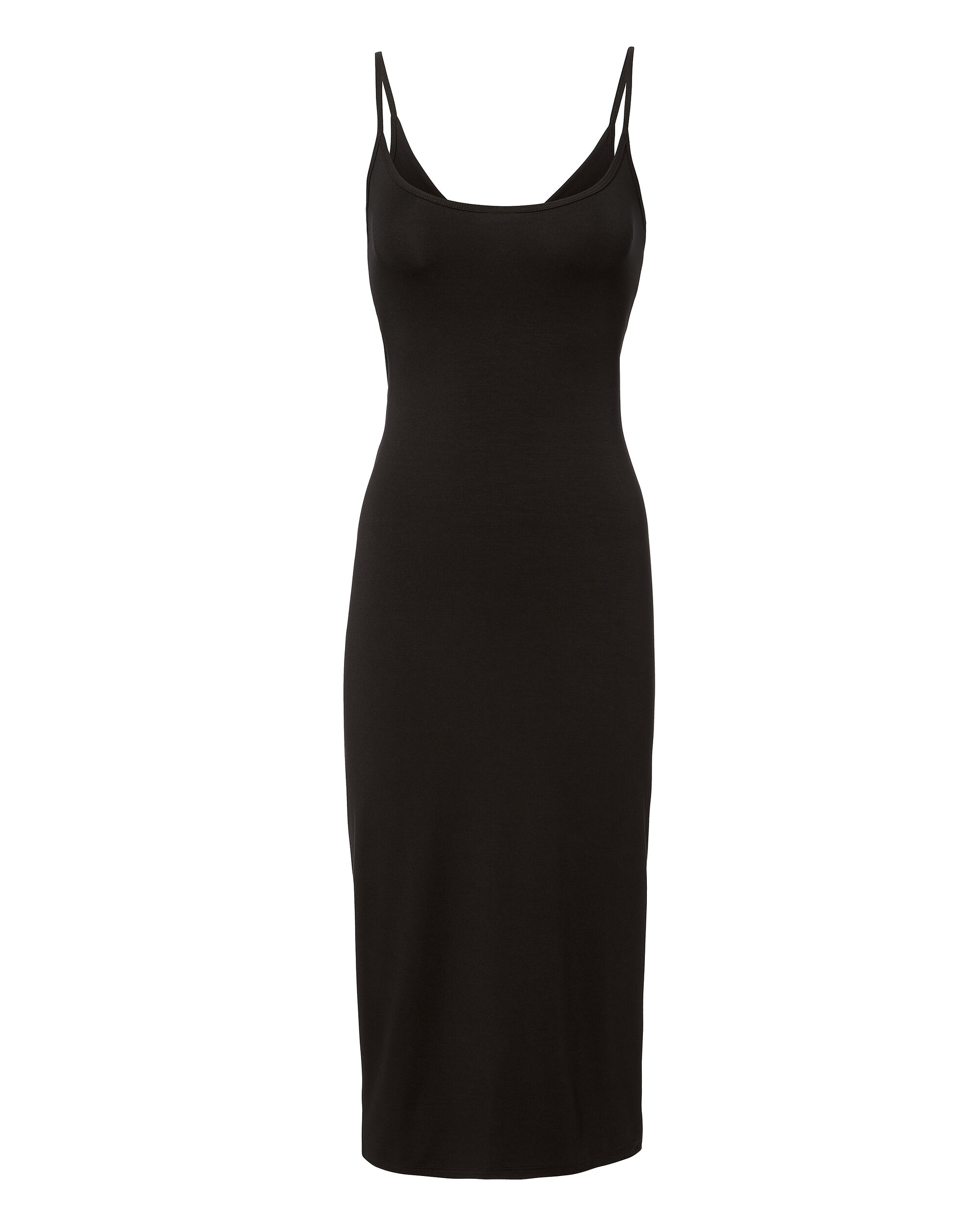 Twist Back Ribbed Midi Dress, BLACK, hi-res