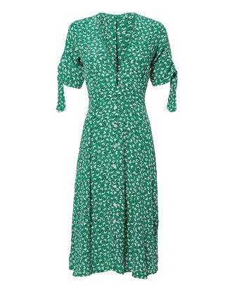 Nina Midi Dress, GREEN, hi-res