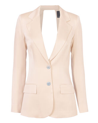 Lois Backless Blazer, BLUSH/NUDE, hi-res