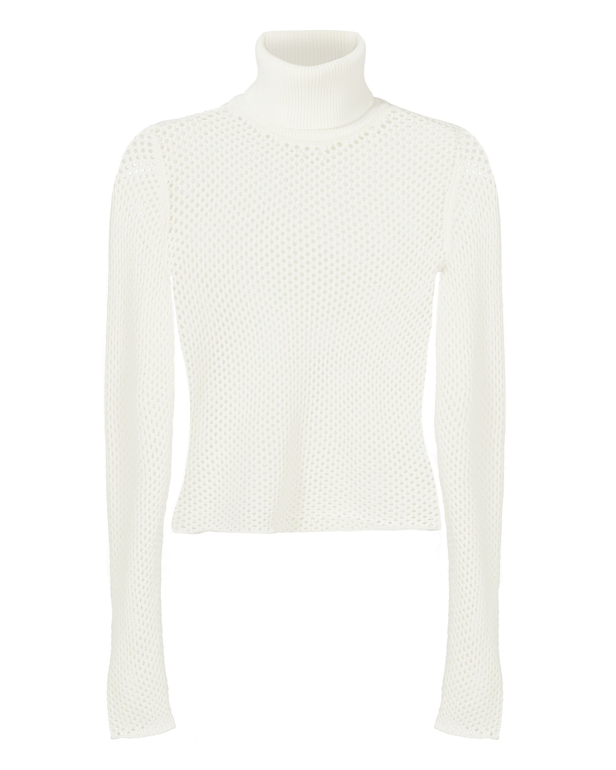 Jones Open Knit Cropped Sweater, WHITE, hi-res