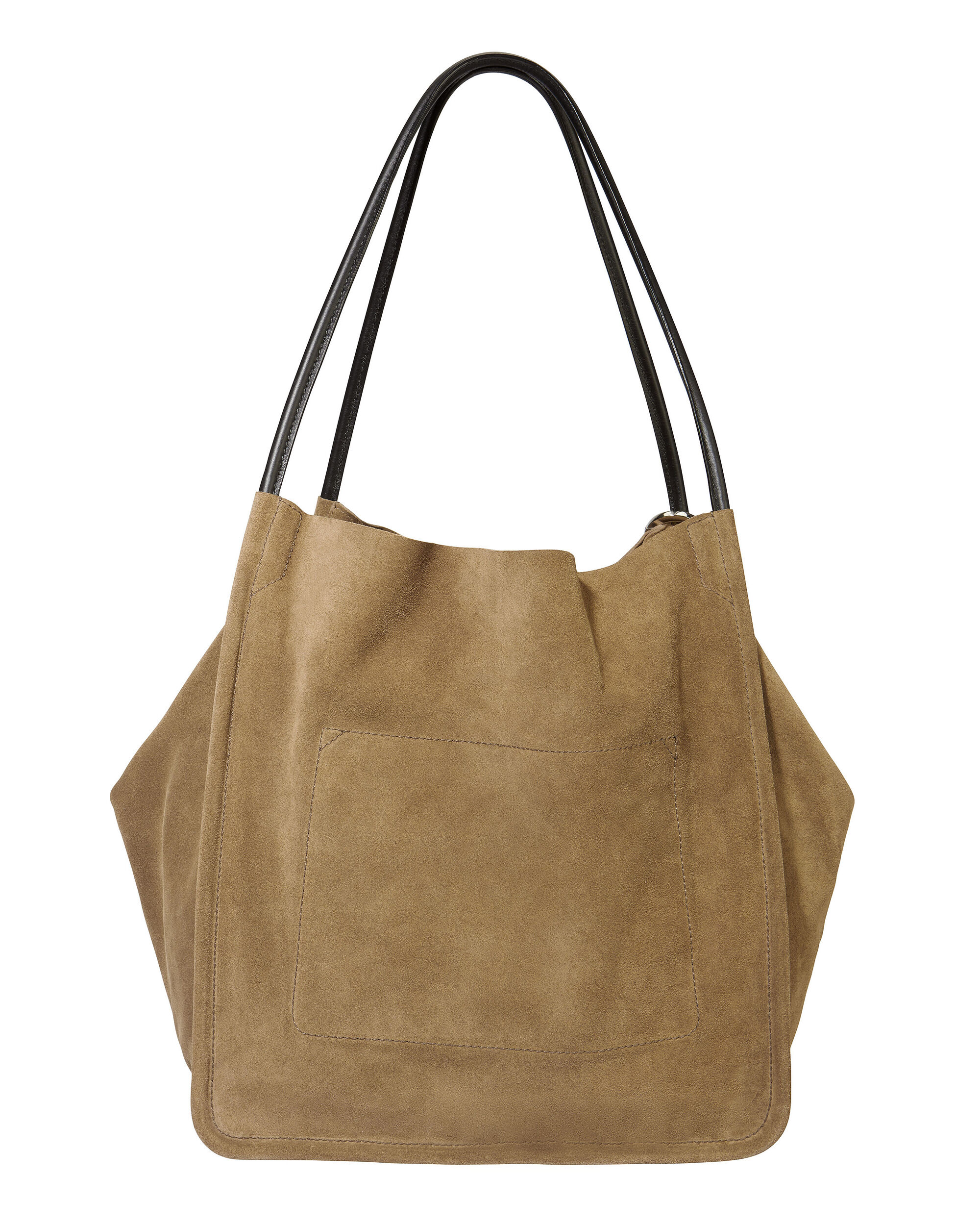 Green Suede Extra Large Tote, GREEN, hi-res