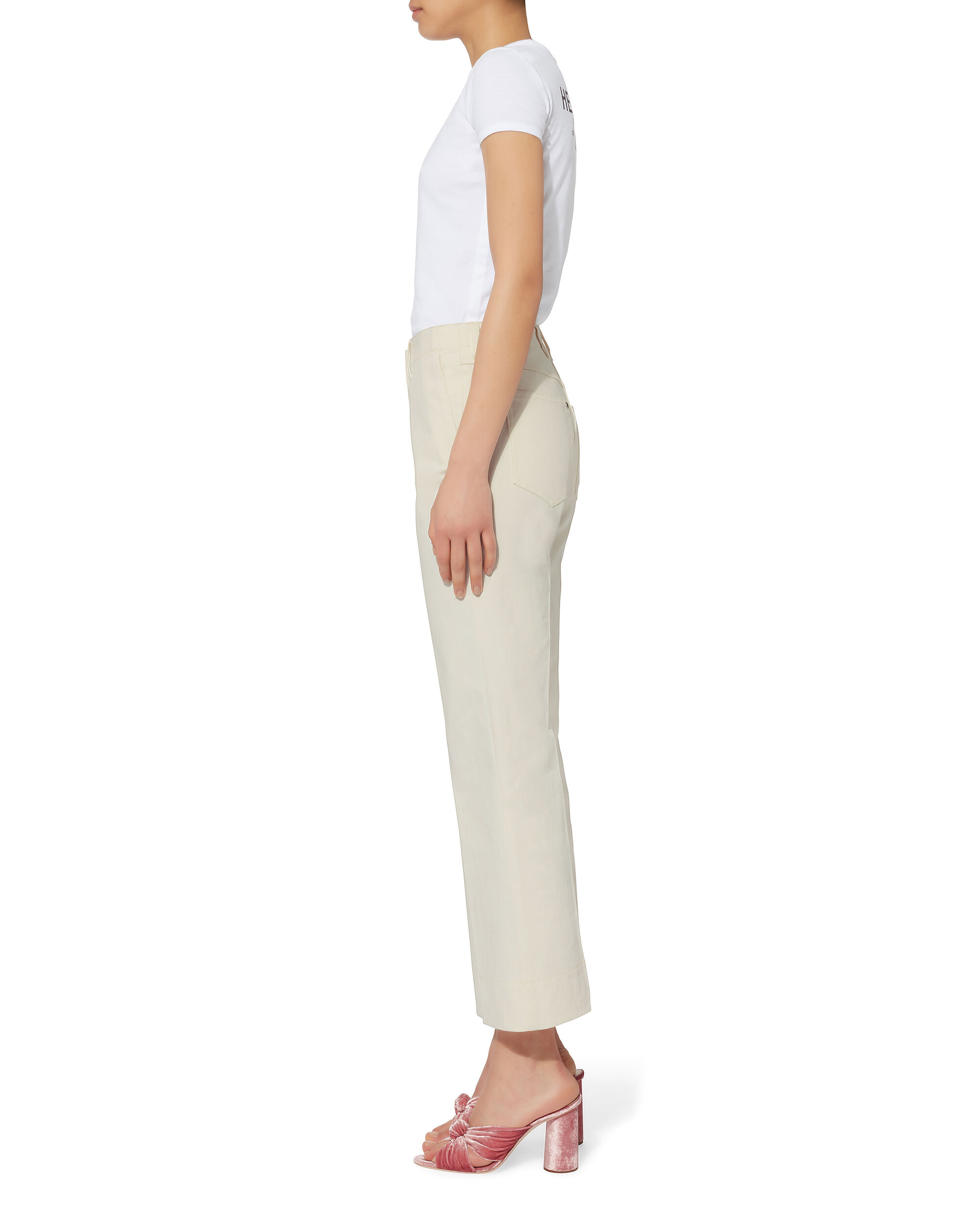 Terry Alabaster Crop Jeans, IVORY, hi-res
