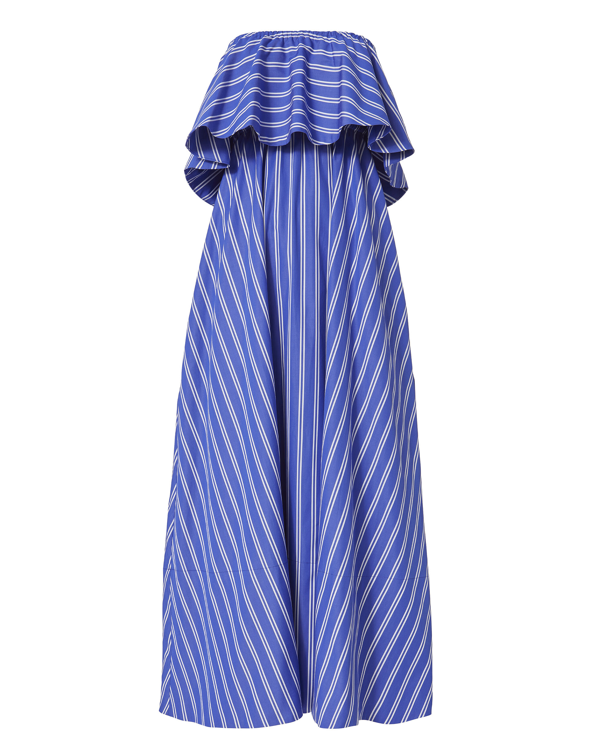 Ruffled Strapless Maxi Dress, PATTERN, hi-res