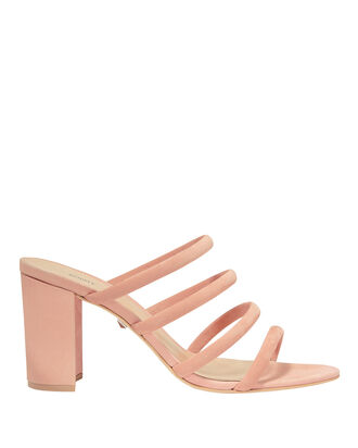 Pink Suede Strappy Sandals, PINK, hi-res