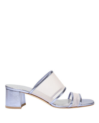 Martina Mesh Slide Sandals, BLUE-LT, hi-res