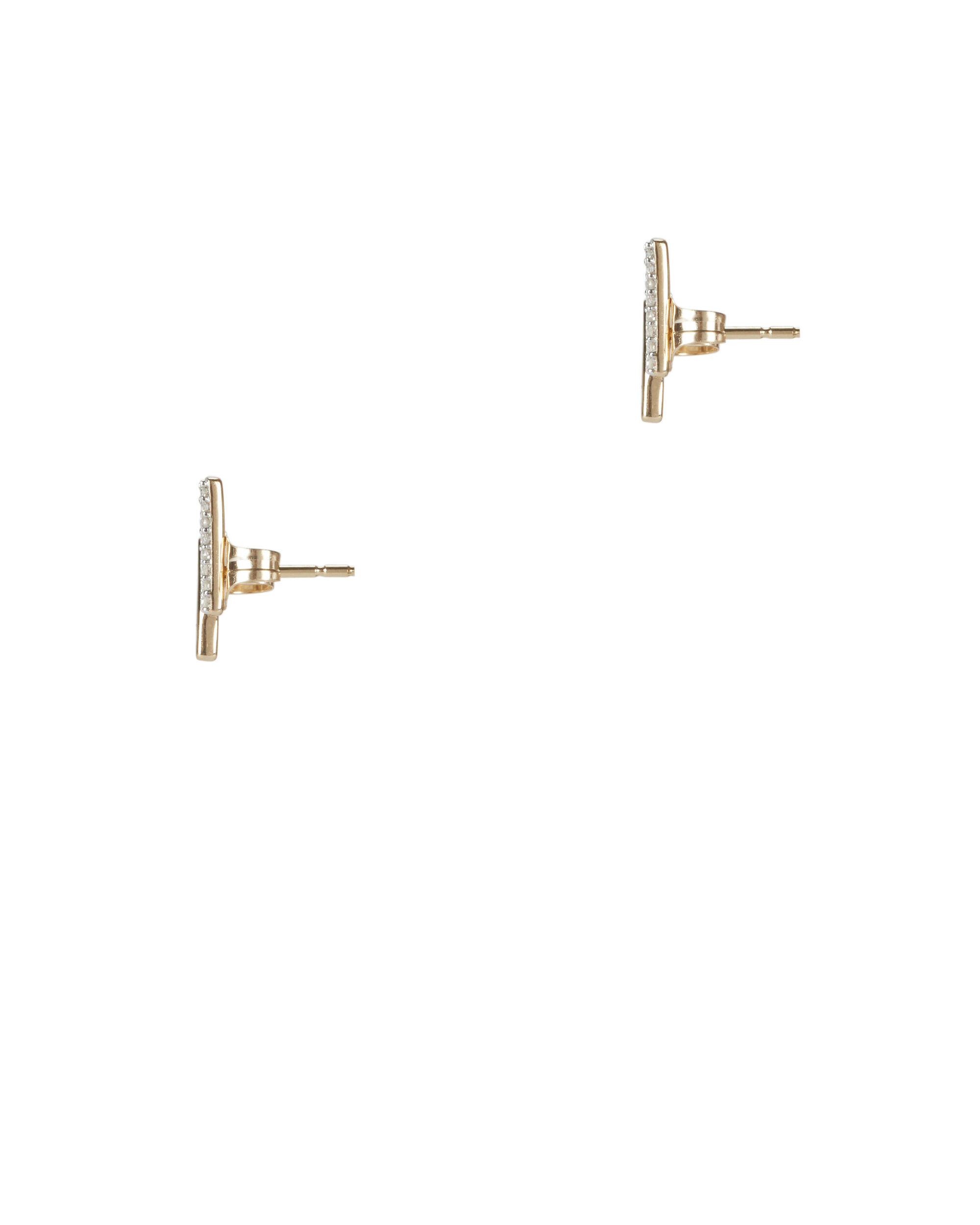 Pavé Crossover Curve Post Earrings, METALLIC, hi-res