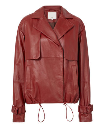 Red Leather Jacket, RED-DRK, hi-res