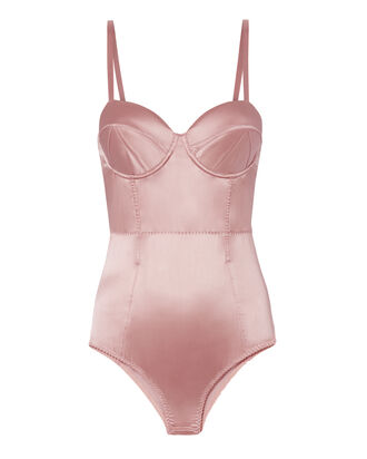 Rose Satin Bullet Bodysuit, PINK, hi-res