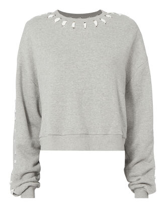 Whipstitch Sweatshirt, GREY, hi-res