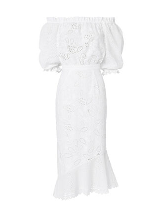 Grace Anglaise Cotton Dress, WHITE, hi-res