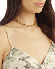 Double Layer Chain Necklace, METALLIC, hi-res