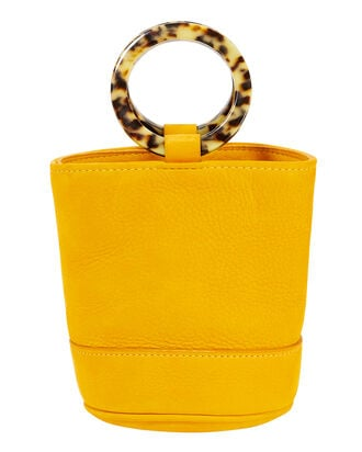 Bonsai Yellow Leather Clutch, YELLOW, hi-res