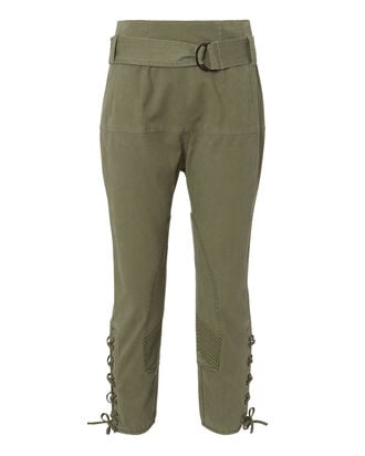 Hewitt Lace-Up Pants, GREEN, hi-res