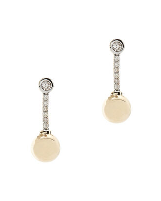 Diamond Sphere Earrings, METALLIC, hi-res