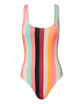 Anne-Marie Spring Multi Striped Swimsuit, PATTERN, hi-res