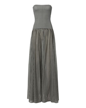 Marianna Strapless Gingham Maxi Dress, PATTERN, hi-res