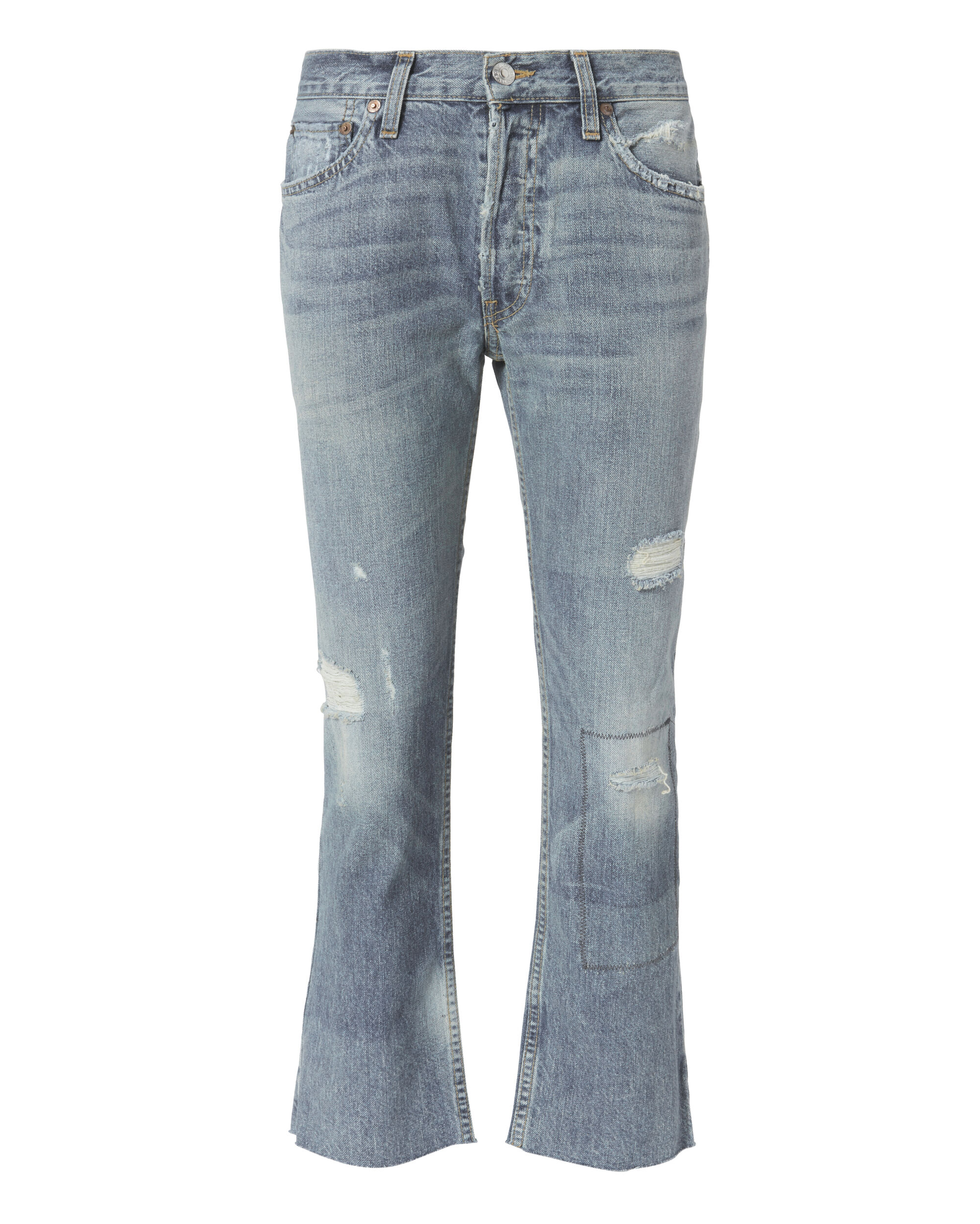 Relaxed Crop Ghost Patch Original Jeans, DENIM, hi-res