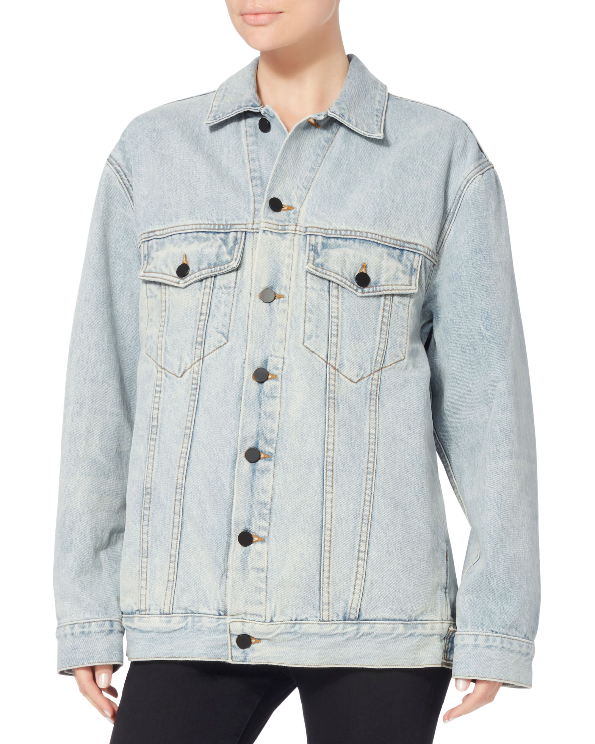 Daze Oversized Denim Jacket, DENIM, hi-res