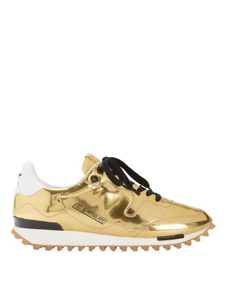 Starland Leather Gold Sneakers, METALLIC, hi-res