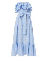 Sabine Strapless Ruffle Dress, BLUE, hi-res