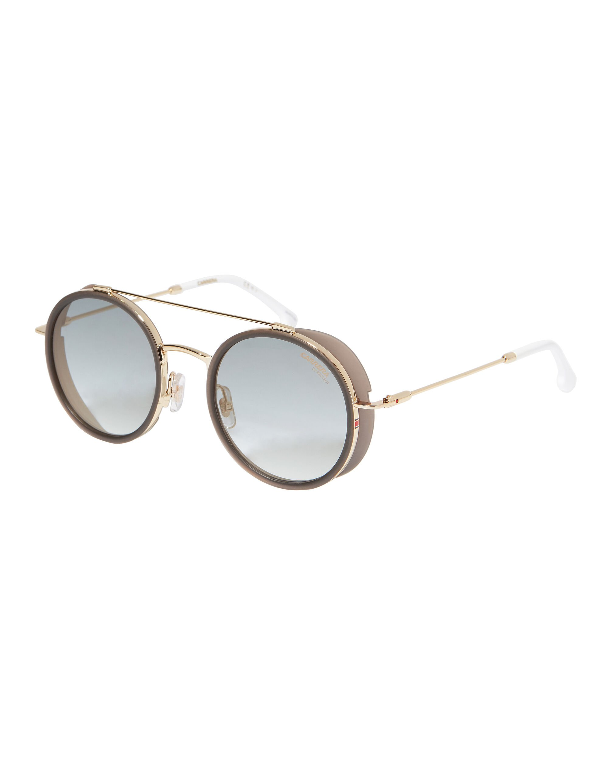 Round Sunglasses, GOLD, hi-res